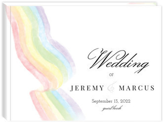 Elegant Rainbow Gay Wedding Guest Book
