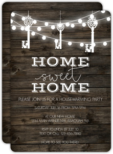 Hanging Key Lights Housewarming Party Invitation