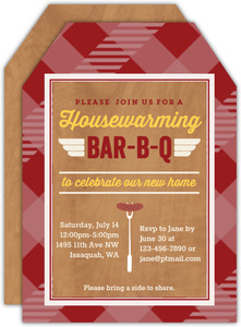 Barbeque Housewarming Invitation