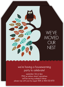 Owl Housewarming Party Invitation
