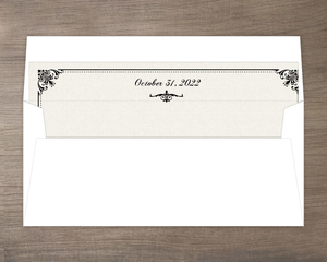 Black and White Victorian Envelope Liner