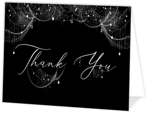 Elegant Spider Web Sparkles Thank You Card