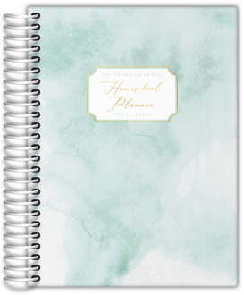 Simple Pastel Watercolor Homeschool Planner
