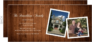 Western Woodgrain Photo Set Housewarming Party Invitation
