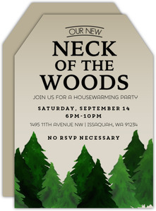Rustic Neck Of The Woods Housewarming Party Invitation