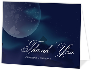 Aurora Moonlight Thank You Card