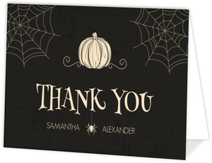 Creepy Pumpkin Halloween Thank You Card