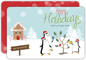Gingerbread Penguins Holiday Moving Announcement