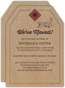 Kraft Paper Luggage Tag Moving Announcement