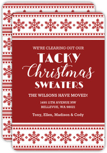 Tacky Sweater Holiday Moving Announcement