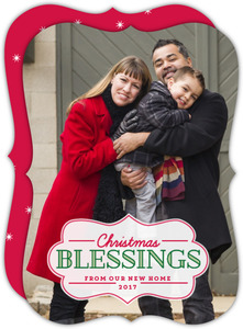 Traditional Christmas Blessings Moving Announcement
