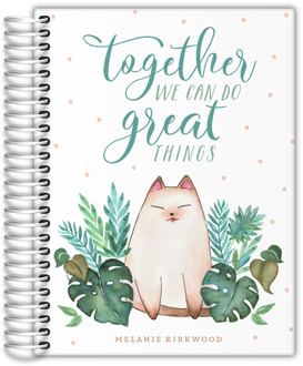 Cat & Plants Together Academic Planner