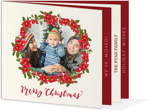 Holiday Moving Announcement Booklet Card