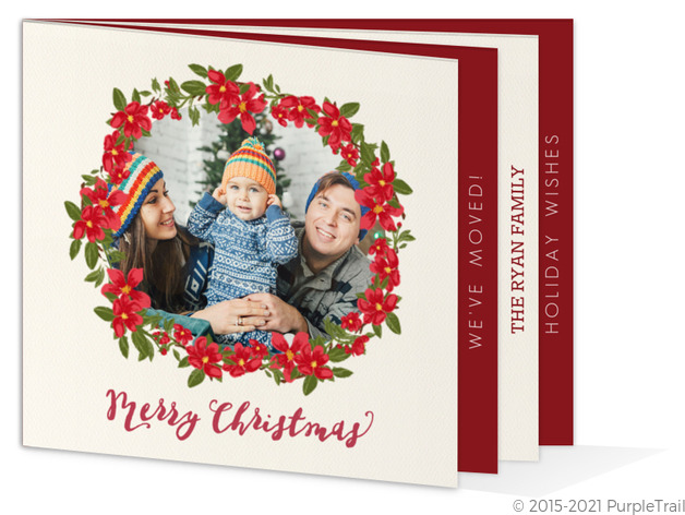 holiday moving announcement booklet card christmas booklet cards