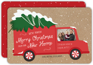 Moving Truck Cutout Christmas Moving Announcement