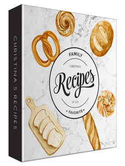Marble Baked Goods Recipe Binder