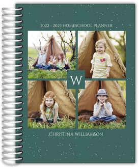 Quad Photo Initial Homeschool Planner