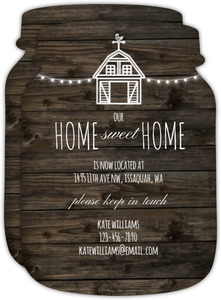 Rustic Barn With Lights Moving Announcement