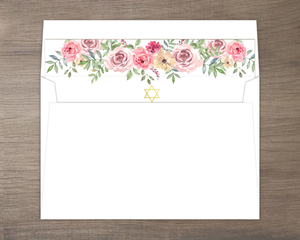 Pink Floral Arrangement Envelope Liner