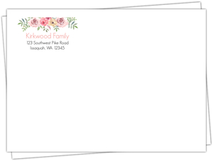 Pink Floral Arrangement Custom Envelope