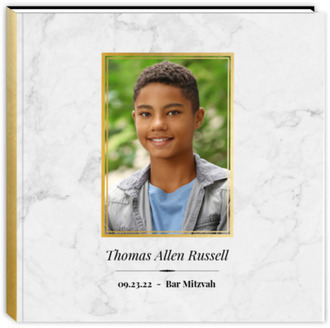 Classic Marble Bar Mitzvah Guest Book