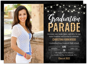 Car Parade Marquee Graduation Invitation
