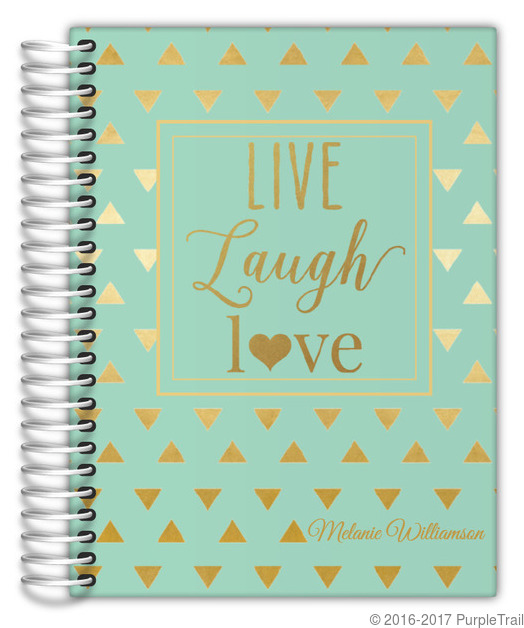 Faux Gold Foil Triangle Quote Custom Planner