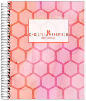 Watercolor Geometric Pattern Custom Day Planner