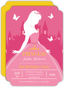 Butterfly Princess Kids Birthday Invitation