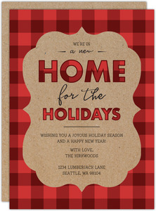 Plaid Home for the Holidays Moving Announcement