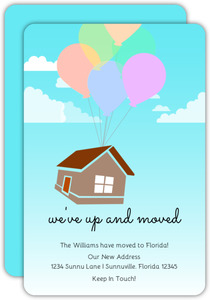 Floating Home & Balloons Moving Announcement