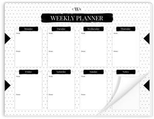 Modern Black Triangle Weekly Planner Notepad