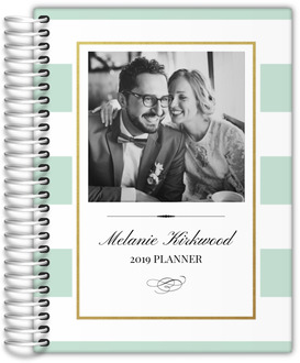 Classic Mint and Gold Frame Custom Planner