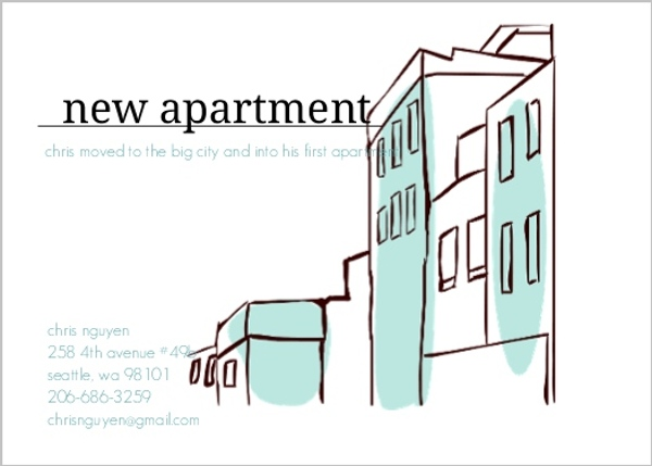 New Apartment Moving Announcement