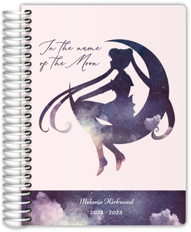 Watercolor Moon Silhouette Quote Academic Planner