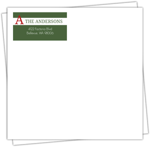 Green and Red Holiday Envelope