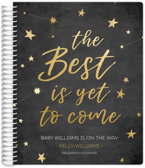 Faux Gold Stars Quote Pregnancy Planner