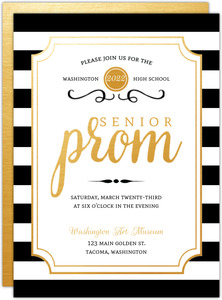 Modern Chic Prom Invitation