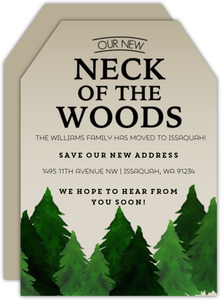 Rustic Neck Of The Woods Moving Announcement