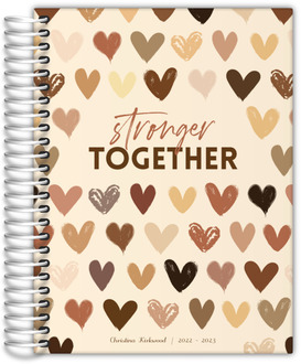 Stronger Together Hearts Daily Planner