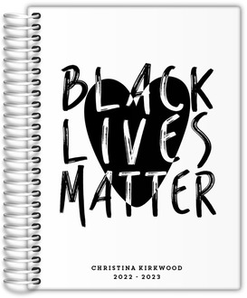 Black Lives Matter Heart Daily Planner