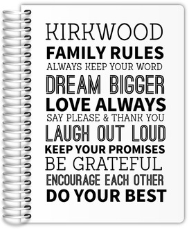 Family Rules Custom Planner