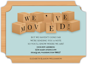 Moving Boxes Moving Announcement