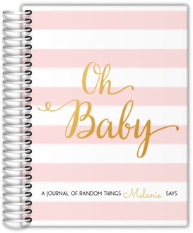 Modern Chic Pink Baby Journal