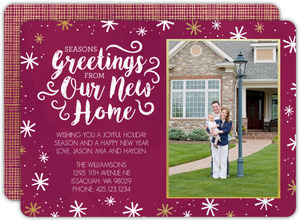 Seasons Greetings New Home Moving Announcement