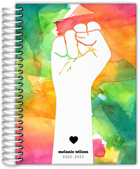 Colorful Watercolor Art Daily Planner