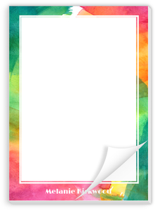 Colorful Watercolor Art Personalized Notepad