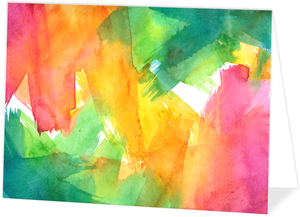 Colorful Watercolor Art Personalized Folded Card