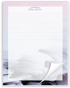 Purple Brush Strokes Personalized Notepad
