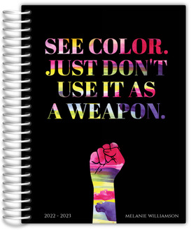 See Color Watercolor Quote Content Planner